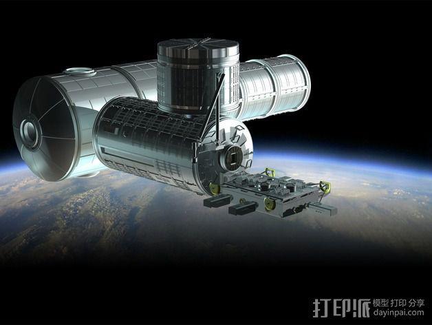 国际空间站 通信卫星  3D模型  图3