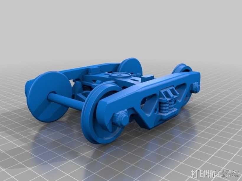 铁路转向架 3D模型  图1