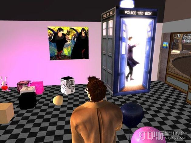 塔迪斯警察亭 3D模型  图3