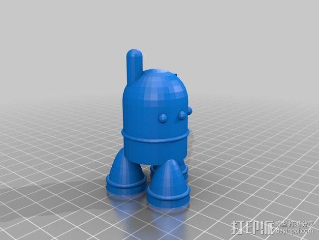 可爱的机器人 3D模型  图2