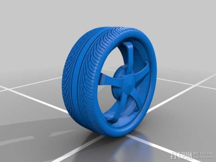 合金车轮 3D模型  图1
