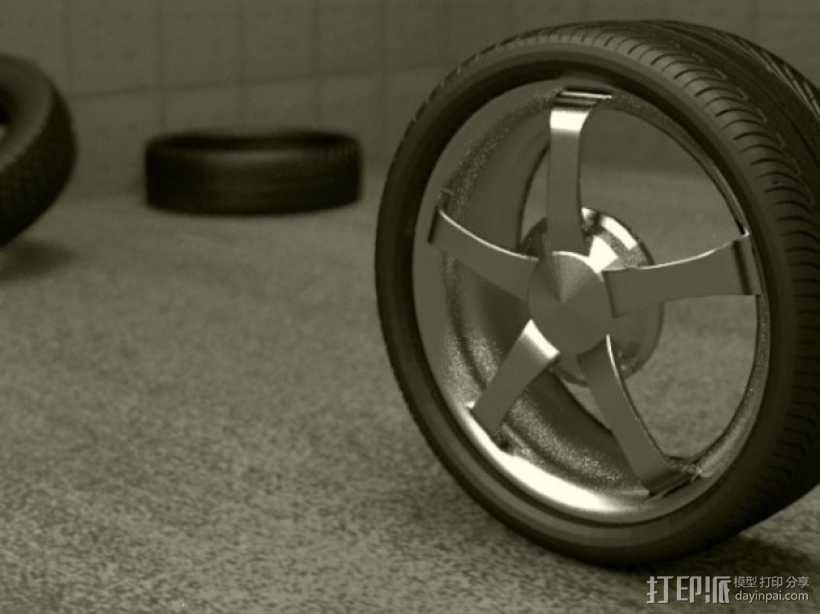 合金车轮 3D模型  图2
