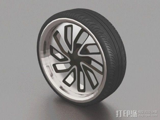 New Lada 合金车轮 3D模型  图1