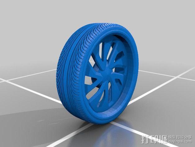 New Lada 合金车轮 3D模型  图2