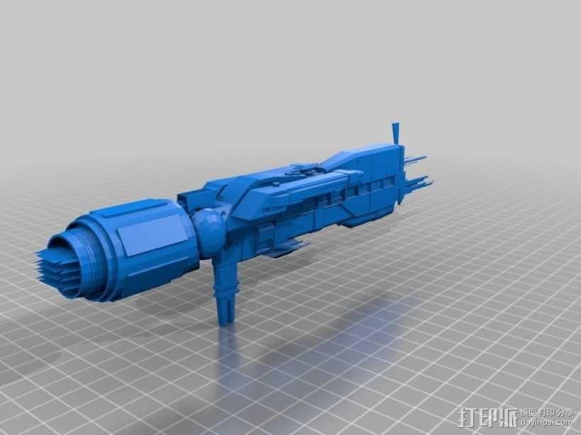 USS Sulaco太空飞船 3D模型  图1