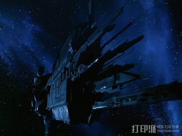 USS Sulaco太空飞船 3D模型  图2