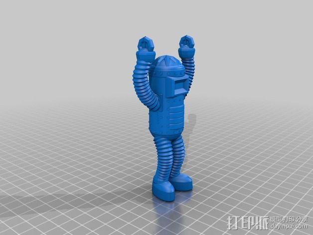 机器人卡片夹 卡片架 3D模型  图2