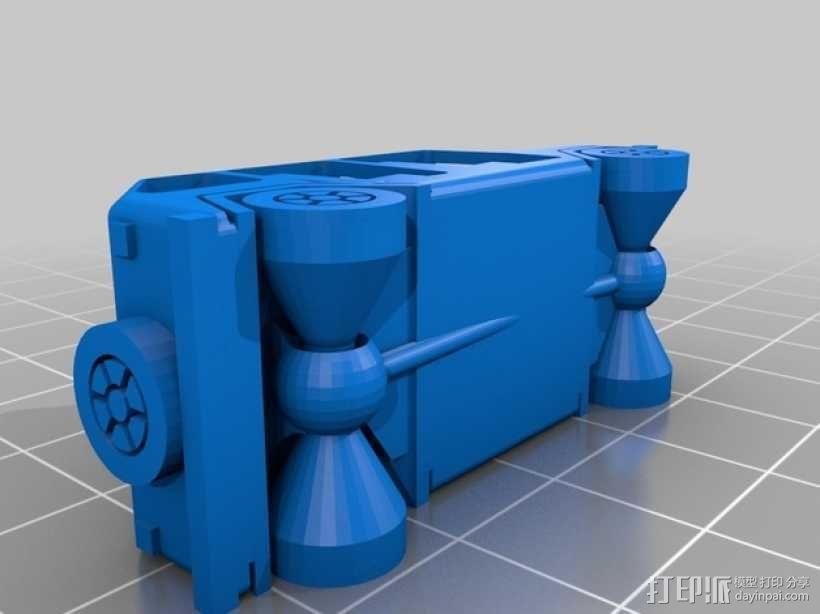 四门软顶牧马人吉普车模型 3D模型  图2