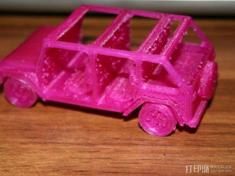 四门软顶牧马人吉普车模型 3D模型  图4