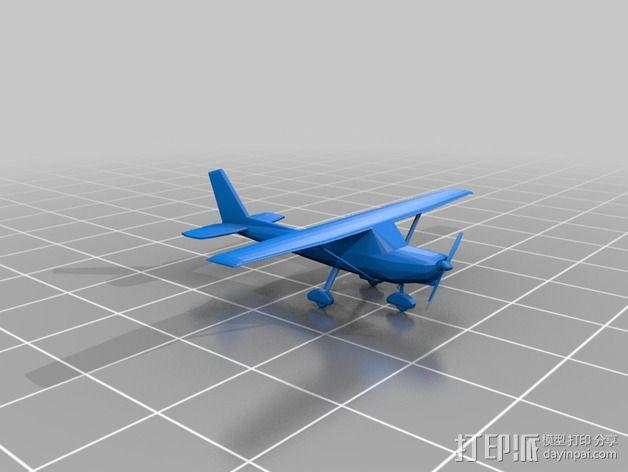 Cessna 172R塞斯纳172R飞机模型 3D模型  图2