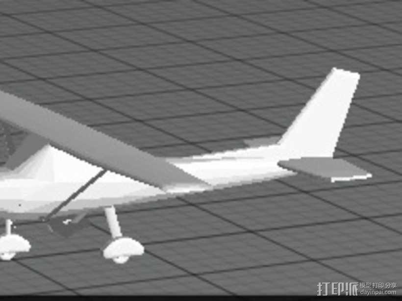 Cessna 172R塞斯纳172R飞机模型 3D模型  图1