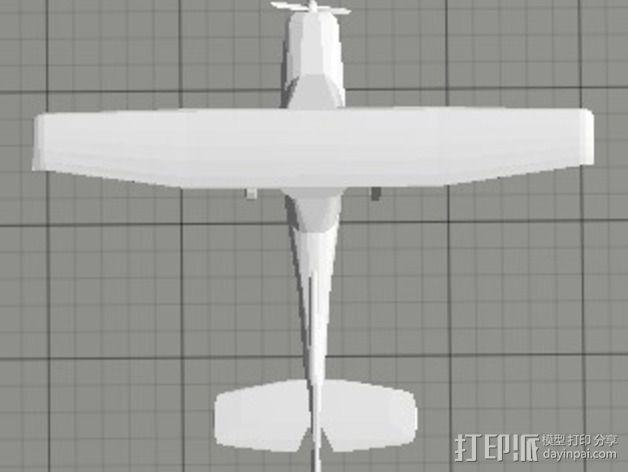 Cessna 172R塞斯纳172R飞机模型 3D模型  图3