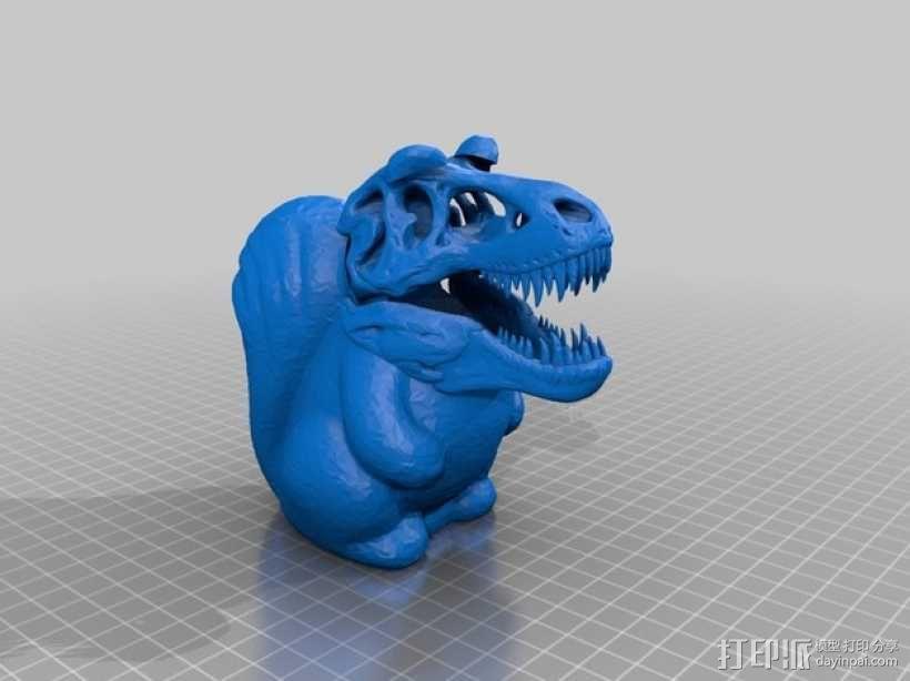 松鼠霸王龙 3D模型  图1