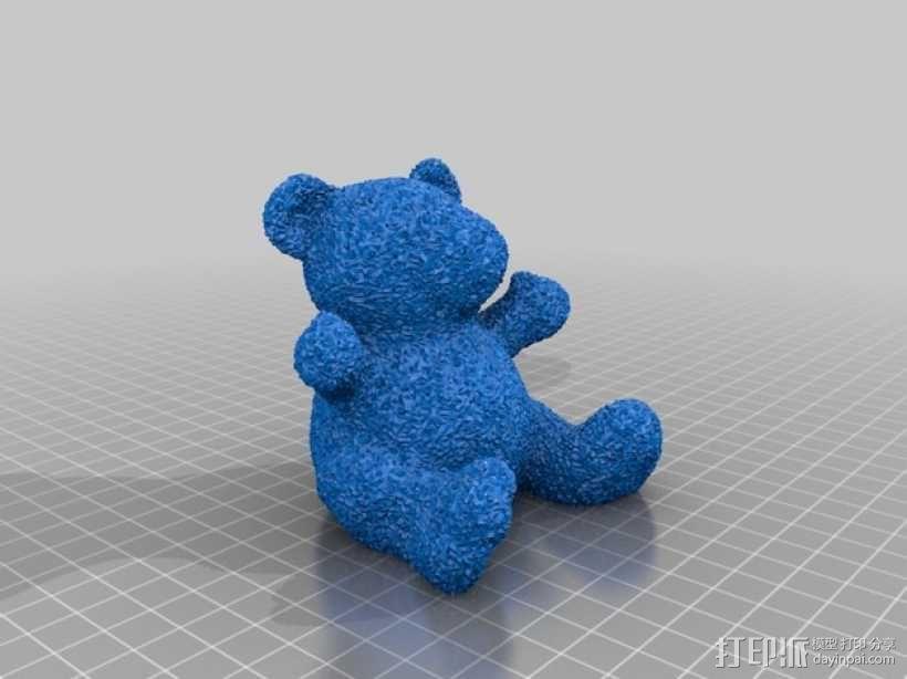 毛绒小熊 3D模型  图1