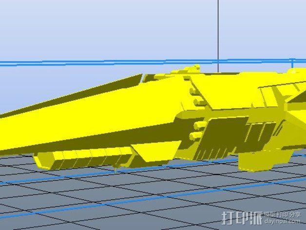 光晕 驱逐舰 3D模型  图1