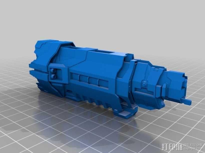 光晕 巡洋舰 3D模型  图2