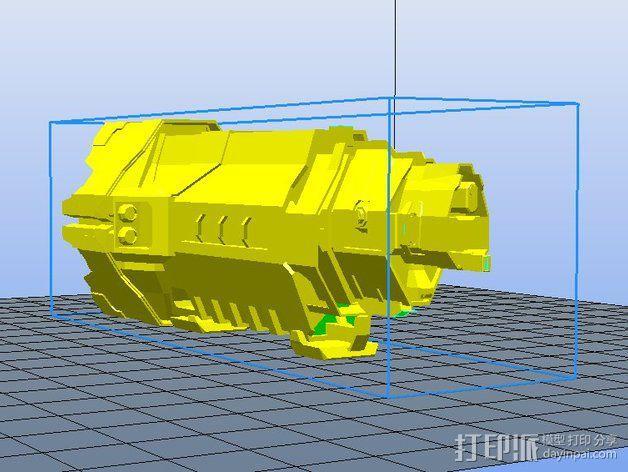 光晕 巡洋舰 3D模型  图1