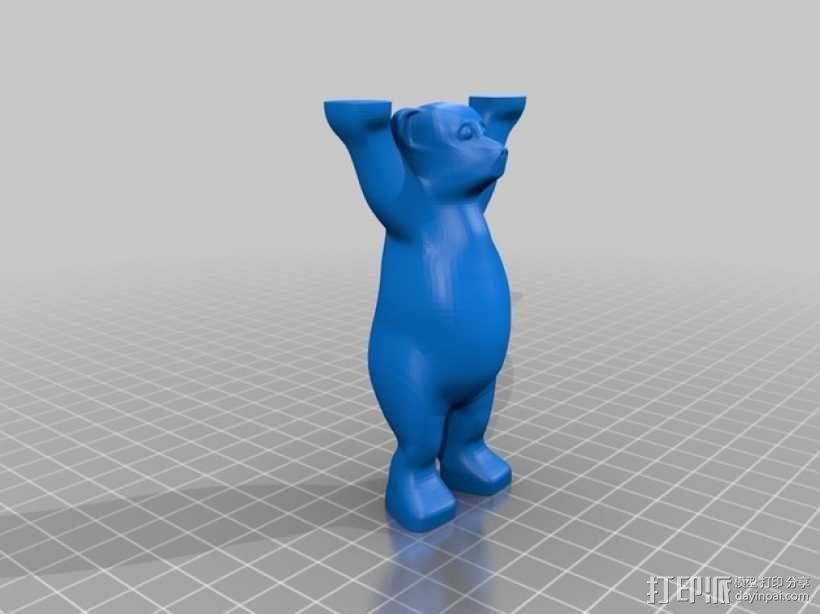 巴迪熊 3D模型  图1
