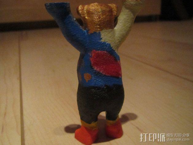 巴迪熊 3D模型  图4