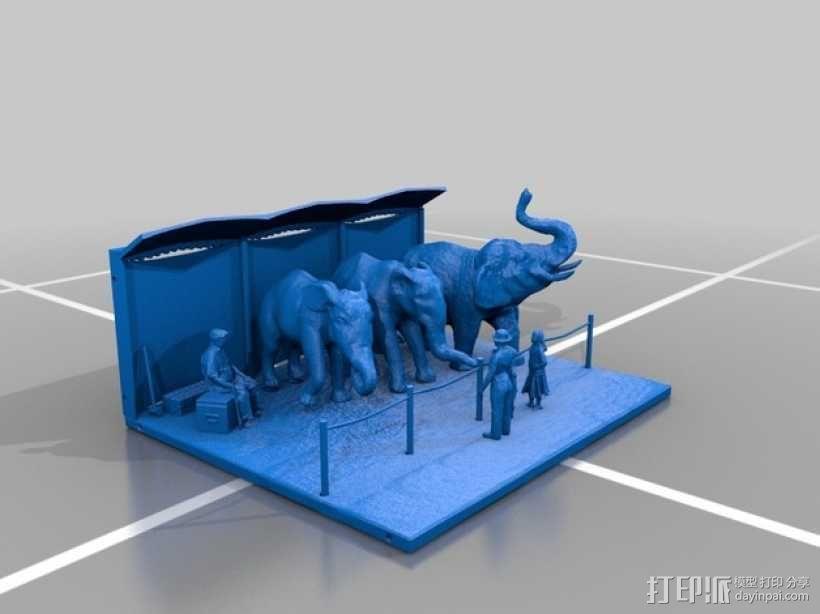 马戏团的大象 3D模型  图1