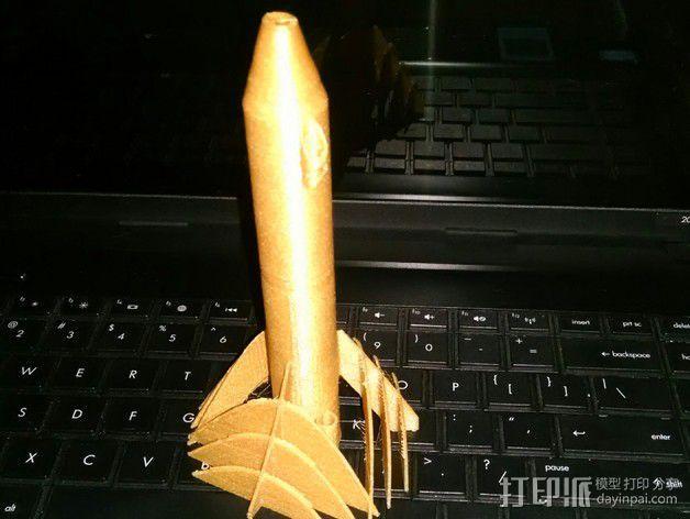 弧形鳍火箭 3D模型  图4