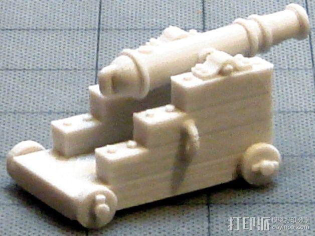 船上的加农炮 3D模型  图7