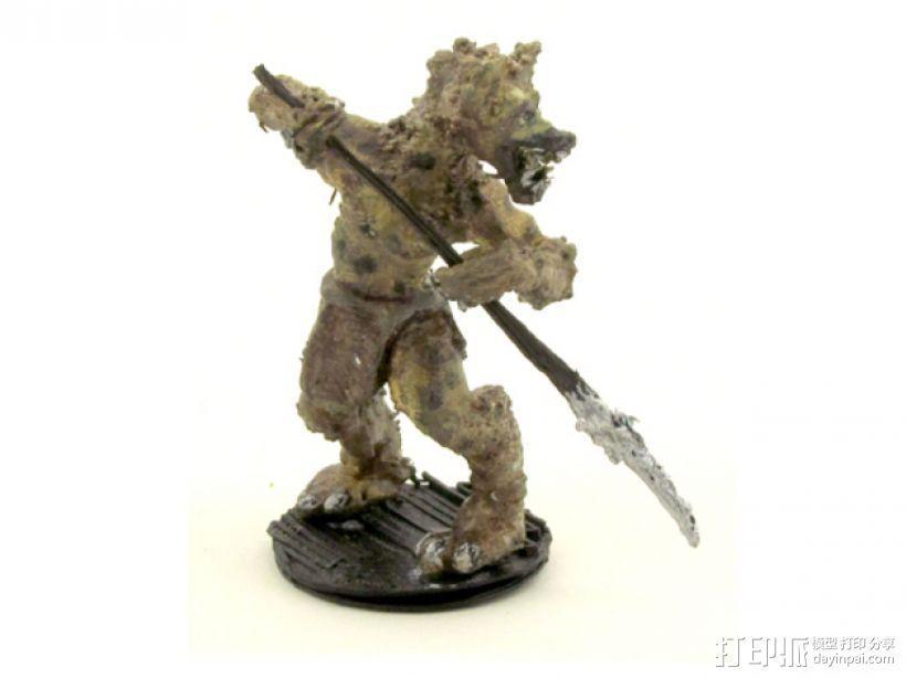 豺狼战士 3D模型  图1