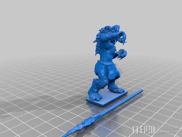 豺狼战士 3D模型  图2