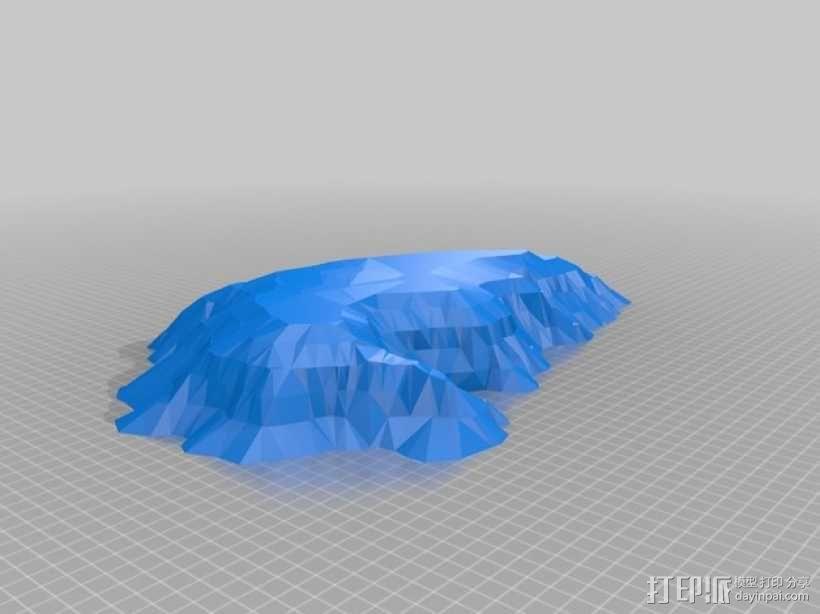 艾尔斯巨石 乌鲁鲁巨石 3D模型  图1
