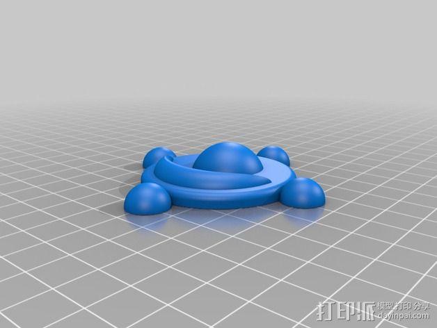月野兔变身胸针 3D模型  图2