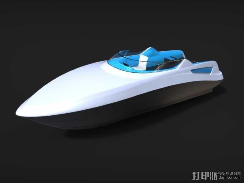 运动艇 3D模型  图1