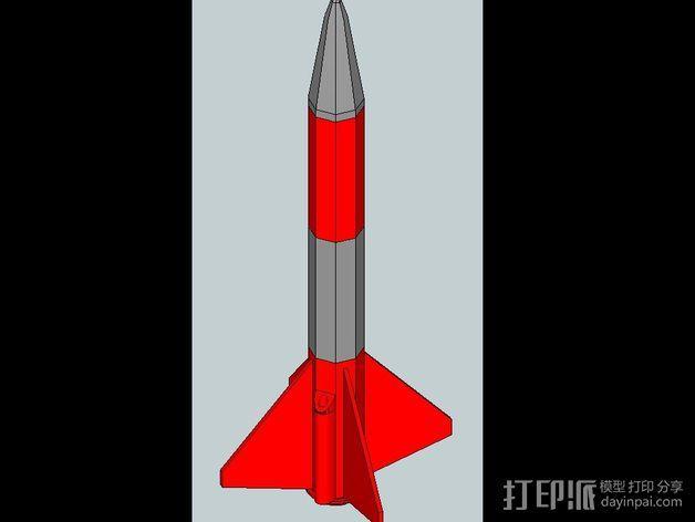 火箭 3D模型  图1