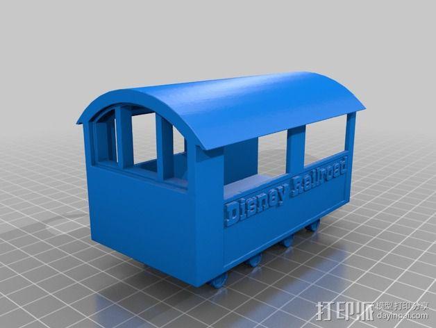 迪士尼蒸汽火车 3D模型  图2