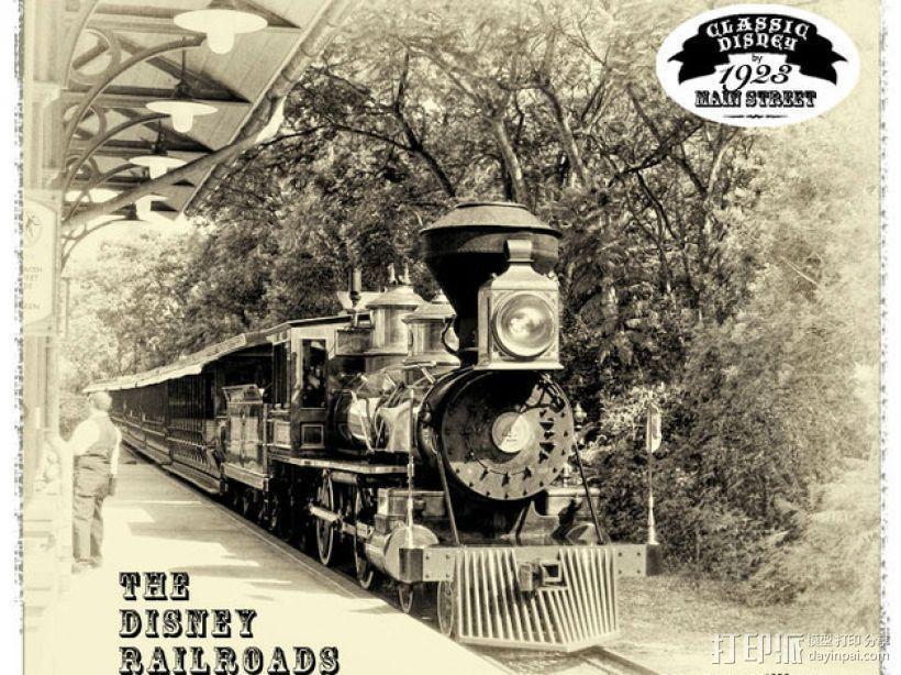 迪士尼蒸汽火车 3D模型  图1