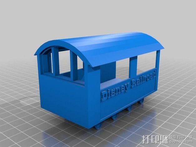 迪士尼蒸汽火车 3D模型  图3