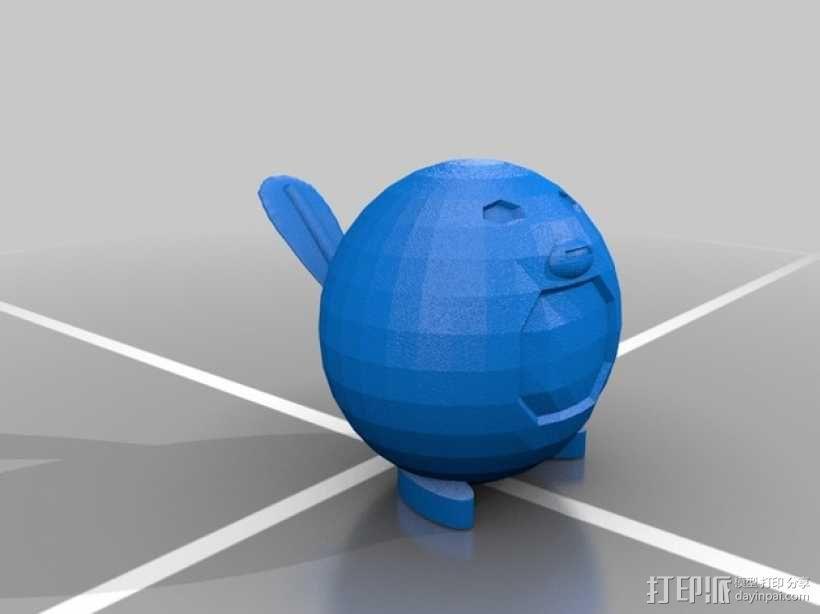 蚊香蝌蚪 3D模型  图3