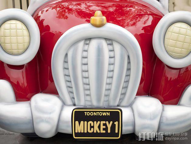 米奇汽车 3D模型  图1