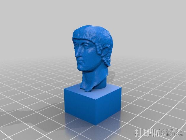 康士坦丁半身像  3D模型  图1