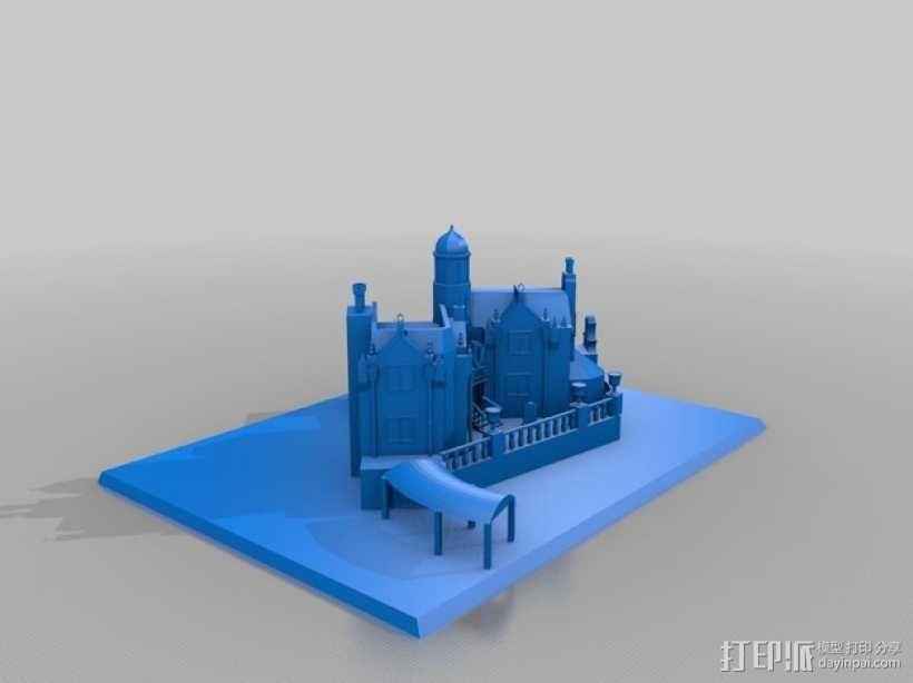 幽灵鬼屋 建筑模型 3D模型  图2
