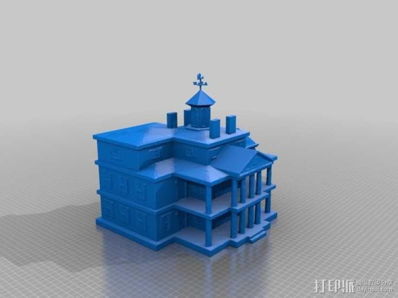 幽灵鬼屋 建筑模型 3D模型  图4