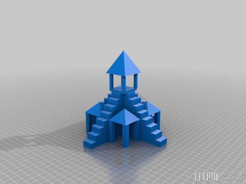 寺庙 3D模型  图2