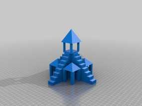 寺庙 3D模型