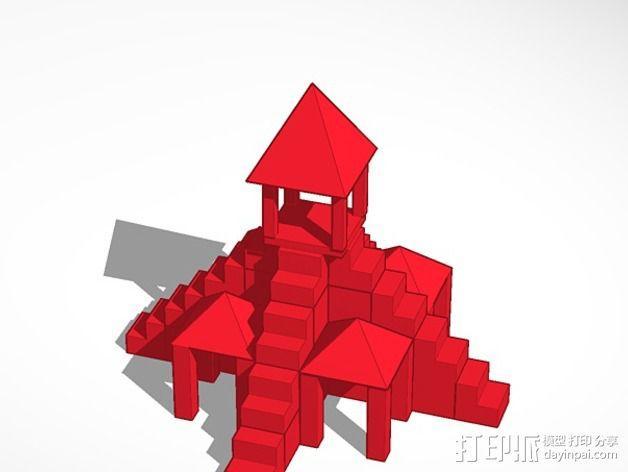 寺庙 3D模型  图1