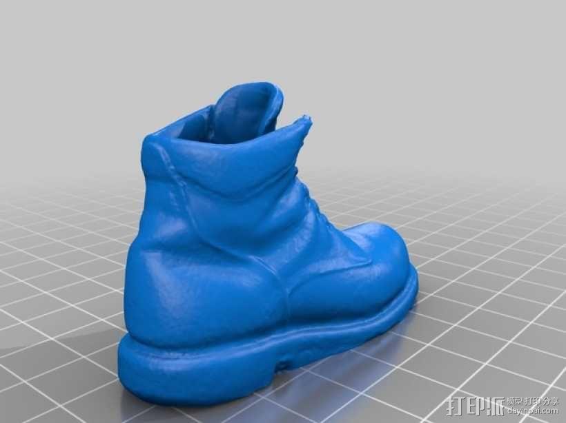 工作靴 3D模型  图2