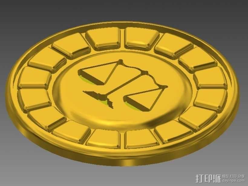 逆转裁判 徽章  3D模型  图2
