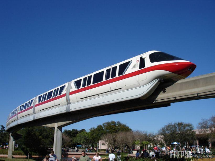 迪士尼乐园单轨铁路 3D模型  图1