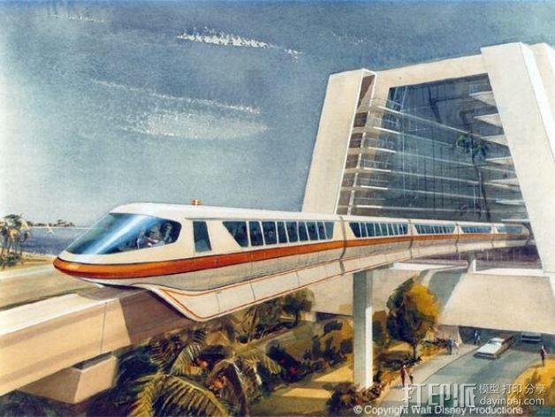 迪士尼乐园单轨铁路 3D模型  图3