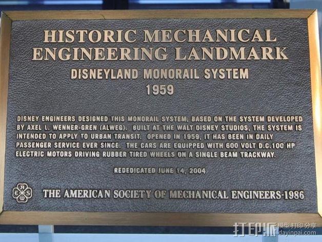 迪士尼乐园单轨铁路 3D模型  图5