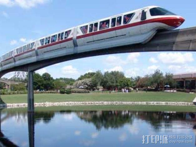 迪士尼乐园单轨铁路 3D模型  图8