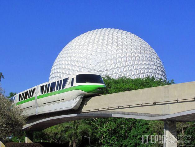 迪士尼乐园单轨铁路 3D模型  图7